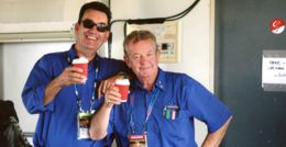 Australian International AIrshow commentators - Gary Westley (commercial airline pilot with Peter Meehan, Manager and anchor commentator